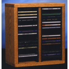 <strong>Wood Shed</strong> 200 Series 40 CD Multimedia Tabletop Storage Rack