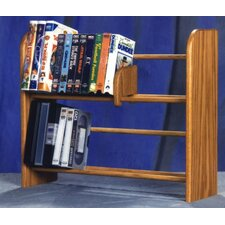 <strong>Wood Shed</strong> 200 Series 80 DVD Dowel Multimedia Tabletop Storage Rack