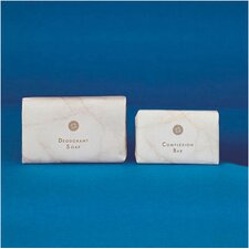 <strong>WHITE MARBLE</strong> 0.75 Oz Basics Soap Bar in White