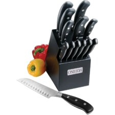 Cutlery 14 Piece Classic Triple Rivet Pistol Handle Knife Block Set