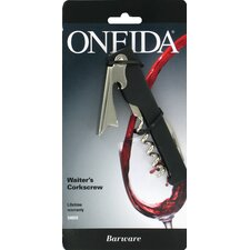 <strong>Oneida</strong> Barware Waiter's Corkscrew with Silicone Inserts