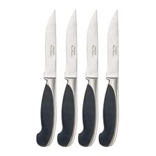 Cutlery 4 Piece Soft Touch Dual Pistol Handle Steak Knife Set
