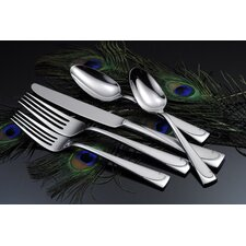 45 Piece Script Flatware Set