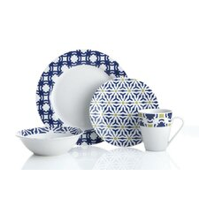 Blue Capella 16 Piece Dinnerware Set