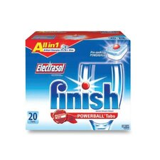 Finish Powerball Dishwasher Tabs, 20/Box