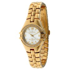 Women's Swarovski Watch with Crystal Bracelet in Gold Tone