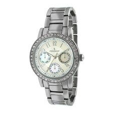 Women's Multi Function Swarovski Watch with Crystal Bracelet in Silver