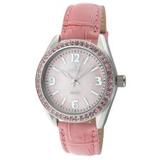 Women's Swarovski Elements Watch with Pink Leather Strap