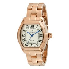 Women's Roman Numeral Bracelet Watch in Rose Gold