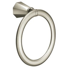 <strong>Creative Specialties by Moen</strong> Felicity Towel Ring in Brushed Nickel