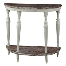 <strong>Gail's Accents</strong> Cottage Demilune Console Table