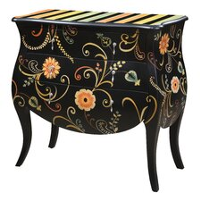 <strong>Gail's Accents</strong> ETC Lily Floral 3 Drawer Bombay Chest