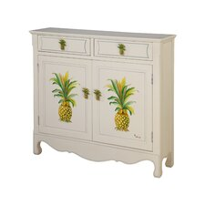 <strong>Gail's Accents</strong> Shoreline Betsy Drake Pineapple 2 Drawer Cupboard