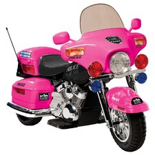 <strong>Kidz Motorz</strong> 12V Battery Powered Police Motorcycle
