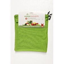 Veggie Baggers 10 x12 Stretchable Mesh Fabric Reusable Bags (Set of 4)