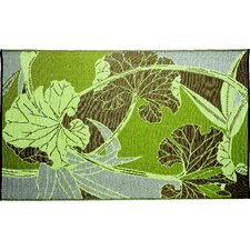 Designer Green/Grey Blossom Indoor/Outdoor Area Rug