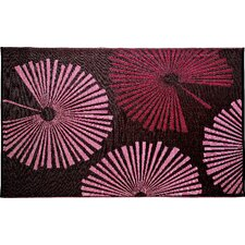 Designer Brown/Red Fantasia Indoor/Outdoor Area Rug