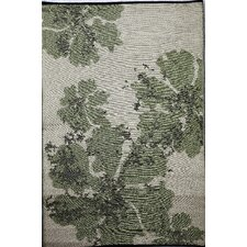Indoor Outdoor Reversible and Waterproof Green and Beige Area Rug
