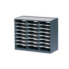 Master literature Organizers with 24 Compartments in Charcoal