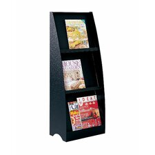 3 Compartment Floor Literature Display