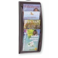 Letter Quick Fit Systems Literature Display with Four pockets in Black