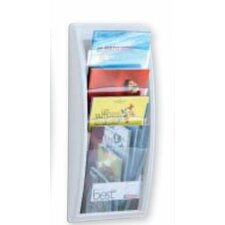 Letter Quick Fit Systems Literature Display with Four pockets in White