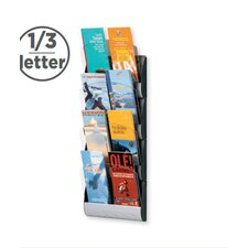<strong>Paperflow</strong> 1/3 Letter Maxi System Wall Literature Display Four pockets
