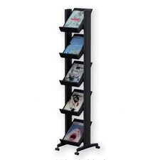 Small Single Sided Literature Display in Black