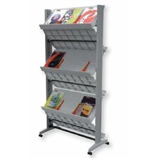 X-Large Double Sided Literature Display in Silver