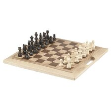 Chess Set with Handle in Oak