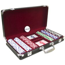 300 Piece 11.5g Poker Set with Black Aluminum Case