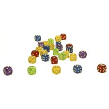 200 Piece 16mm Clear Color Dice Pack