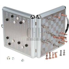 Large Magnetic Chess & Backgammon Game Set
