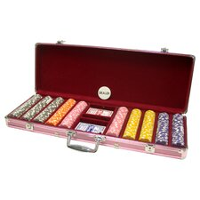 Ladies Rose Dice Chip Poker Set