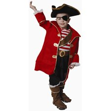 <strong>Dress Up America</strong> Deluxe Pirate Captain Children's Costume Set