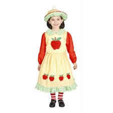Deluxe Apple Dress Children's Costume - 12-24 Months