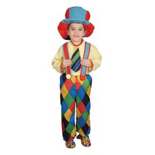 <strong>Dress Up America</strong> Deluxe Circus Clown Children's Costume Set