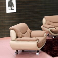 Celia Two-Toned Leather Chair