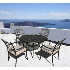 Sorrento 5 Piece Round Dining Set