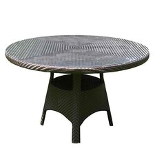 All Seasons Windsor Round Dining Table with Glass Top