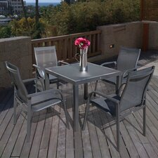 Capri 5 Piece Square Dining Set