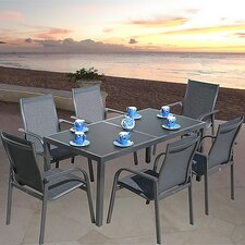 Capri 7 Piece Rectangle Dining Set