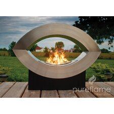 Pureflame Stainless Steel Bio-Ethanol Fire Fireplace