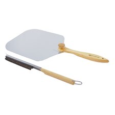 <strong>Pizza Craft</strong> Pizza Oven Stone Brush & Peel