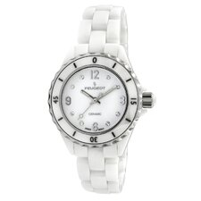 Women's Sport Bezel Dial Watch in White