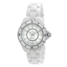 Women's Sport Bezel Watch in White