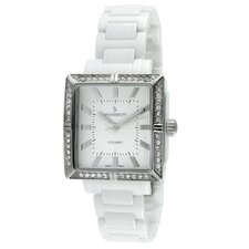 Women's Ceramic Swarovski Dial Watch in White