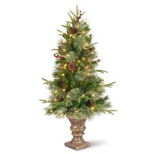 Colonial 4' Green Entrance Artificial Christmas Tree with 100 Pre-Lit Clear Lights with Urn Base