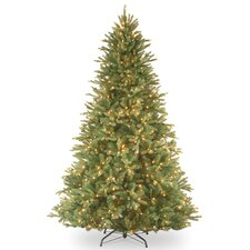 Tiffany Fir 7.5' Green Artificial Christmas Tree with 750 Pre-Lit Clear Lights with Stand