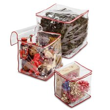 3 Piece ClearView Storage Bag Set